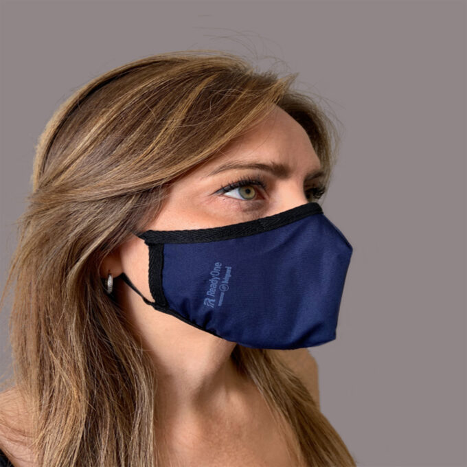 ReadyOne Activity Reusable Face Mask. Technology. 2 Layers of Continuous Protection for All Day Use. Effective for 210 Days. LIVINGUARD Patented Fabric